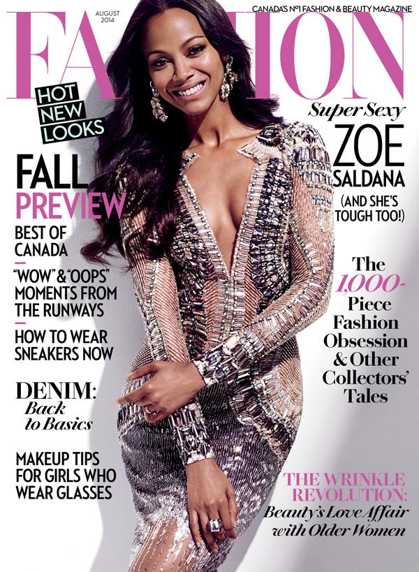 (http://www.fashionmagazine.com/fashion/2014/07/07/fashion-magazine-august-2014-cover-zoe-saldana/)