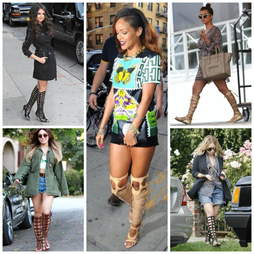 http://www.sheknows.com/beauty-and-style/celebrities-love-their-gladiator-sandals-gallery/celebrities-wearing-gladiator-sandals/gladiator-sandals-knee-high-boots-mary-kate-olsen http://www.voguepk.com/vanessa-hudgens-amazing-gladiator-sandals/ http://wheretoget.it/look/221473  http://www.beautynews.com/news-2369-eng.html  http://www.finehomesandliving.com/FINE-blogs/July-2013/Still-Hot-Gladiator-Sandals/