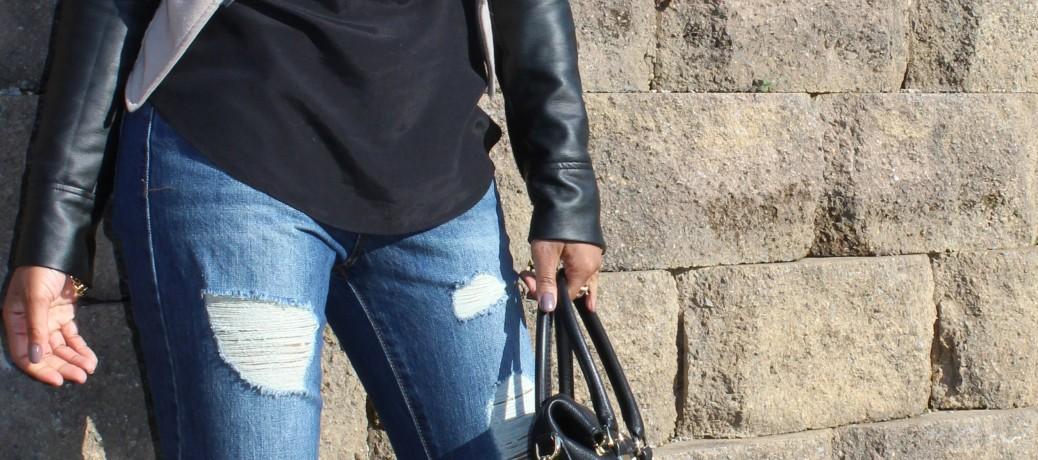 Boyfriend Jeans + Color Block