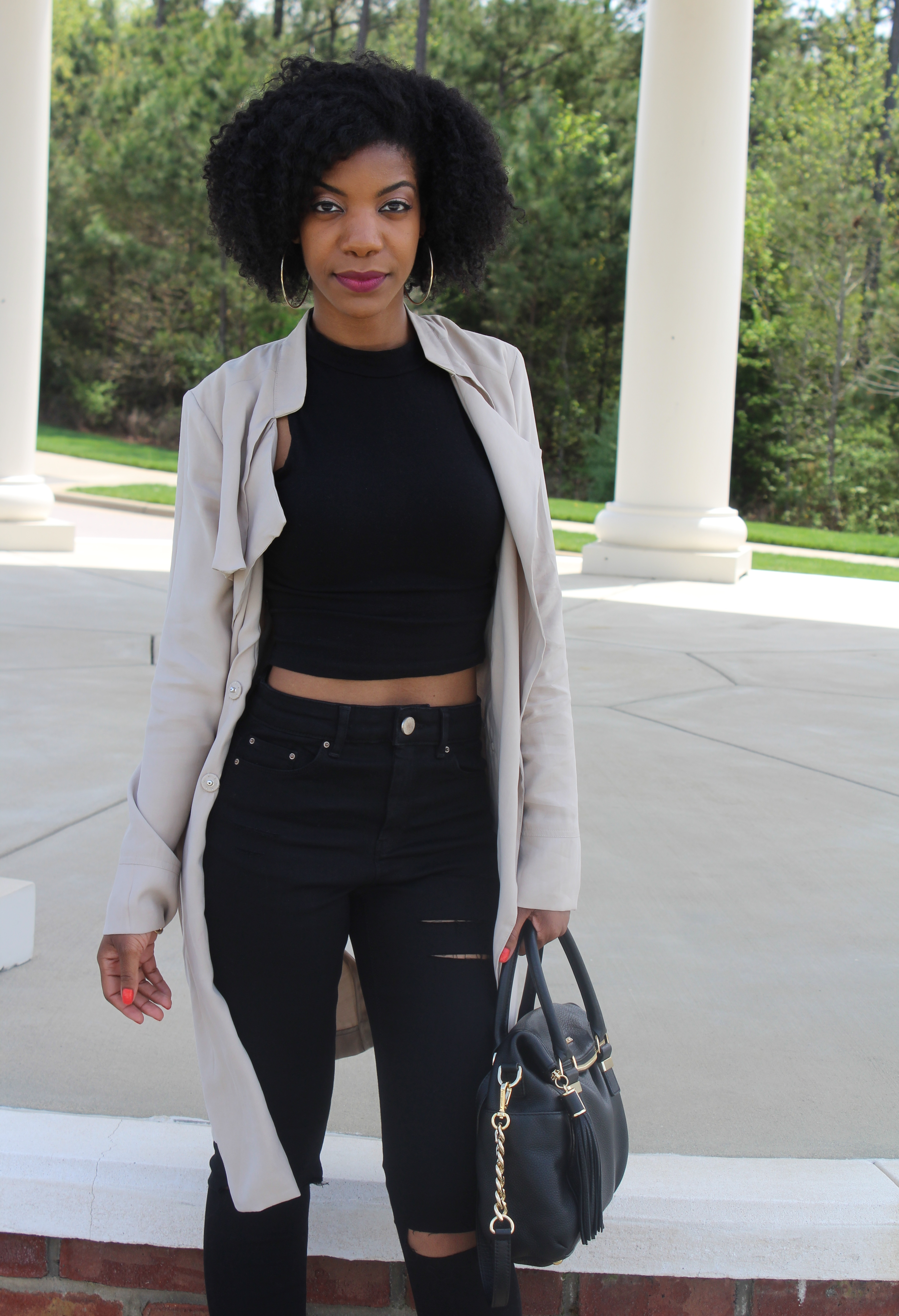 Spring Trench Coat   All Black – The Style Perk