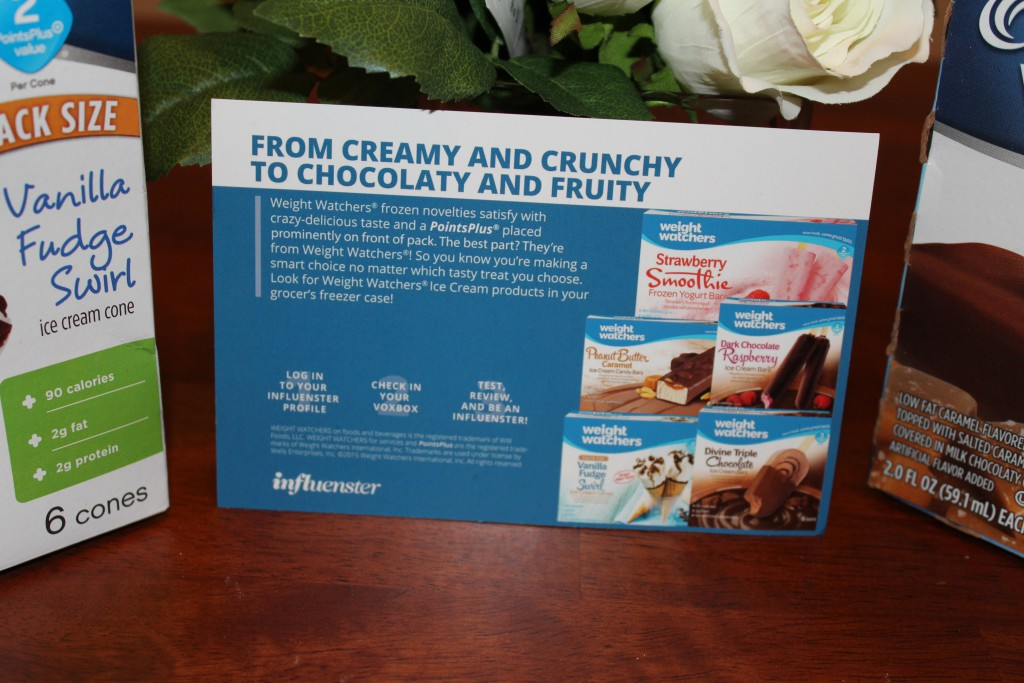 Weight Watchers Ice Cream, Weight Watchers Ice Cream Contest, Vanilla Fudge Swirl, Salted Caramel Bars, Influenster, Kasi Perkins, Product Review