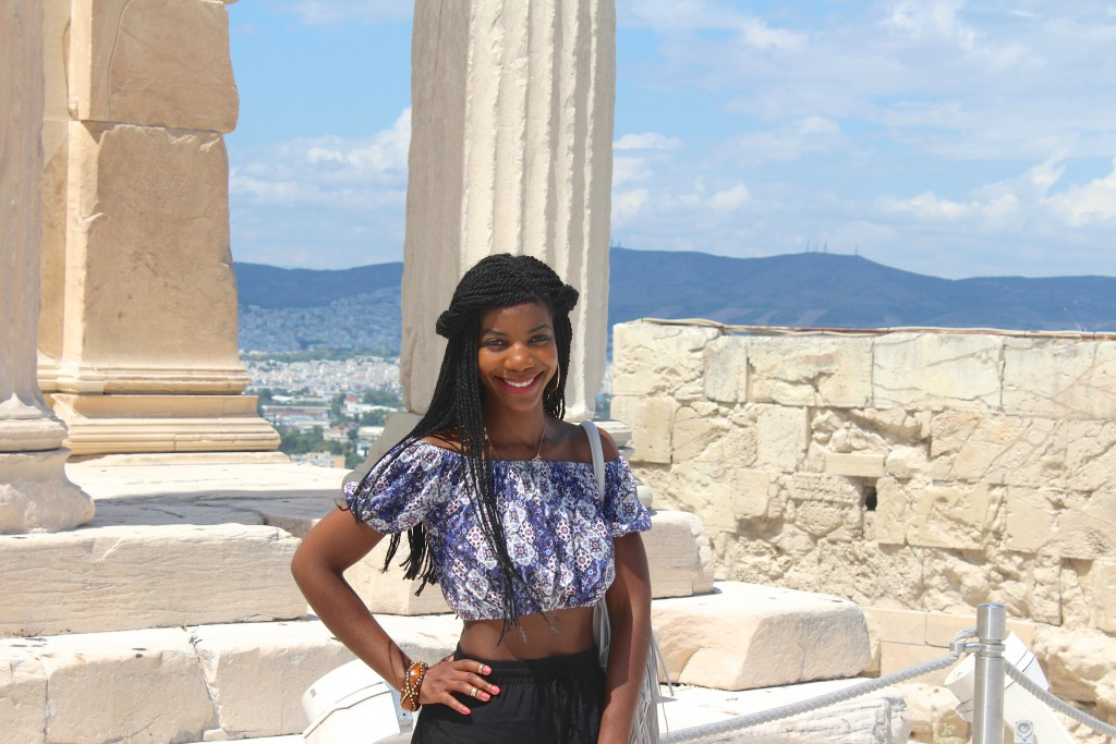 Acropolis, Athens, Architecture, Ancient Architecture, Beautiful, Blogger, Black Blogger, DC Blogger, The Style Perk, Kasi Perkins, Natural Hair, Travel, Travel Blogger