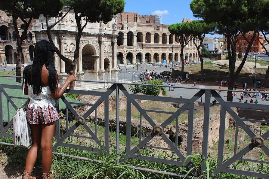 Palatine, Palatine Hill, Colosseum, Ruins, Rome, Italy, Beautiful, Blogger, Black Blogger, DC Blogger, The Style Perk, Kasi Perkins, Natural Hair, Travel, Travel Blogger