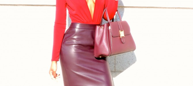 Holiday Party Oufit Inspiration: Wine Monochromatic Look