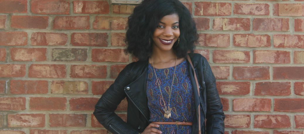 Fall Fashion: Leather Jacket + Boho Dress