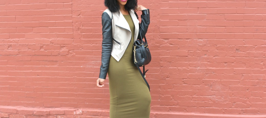 Transitioning Into Spring Style: Olive Green Midi + Black Booties