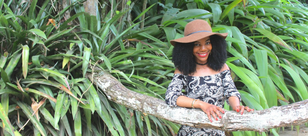 Brazil Travel Style: Black and Taupe Paisley Print Romper