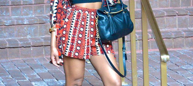Summer Style: Tribal Print Kimono Jacket + Tribal Print Shorts