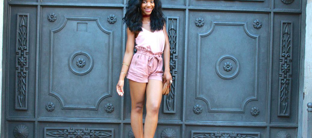 Barcelona Travel Style: Blush Pink Top + Rose Pink Shorts