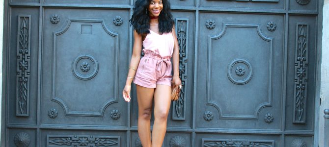 Barcelona Travel Style: Blush Pink Top + Rose Pink Shorts