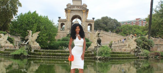 Barcelona Travel Style: White Midi Dress