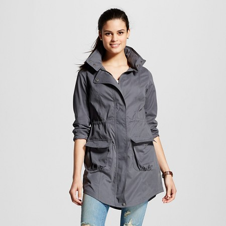 Women's Gray Anorak Military Jacket - Mossimo Supply Co.™
