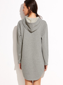 Romwe Grey Sweatshirt Dress, Gray Sweatshirt Dress