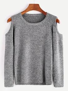 romwegreyopenshouldersweater