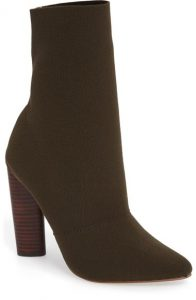 Steve Madden Khaki Green Knit Ankle Boots, Yeezy Dupes, Green Ankle Boots, Sock boots