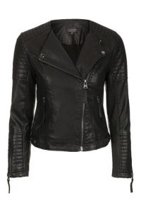 Top Shop Vegan Leather Moto Jacket, Black Leather Jacket