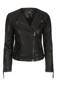 Top Shop Vegan Leather Moto Jacket, Black Leather Jacket