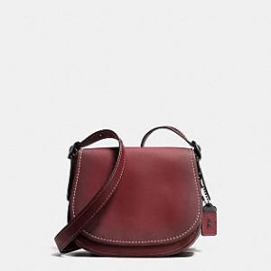 Coach Burgundy Saddlebag, Crossbody, Wine Bag, Coach Purse