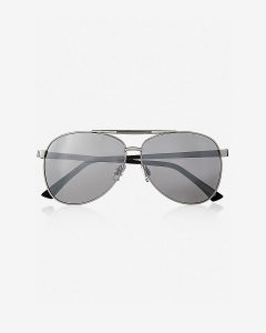Enameled Bridge Mirror Aviator Sunglasses