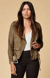 Selfie Leslie Faux Suede Moto Jacket