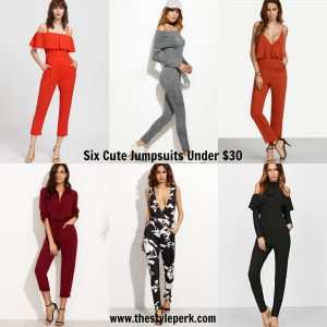 Six Cute Jumpsuits from SheIn, off the shoulder, cold shoulder, romper, floralperk