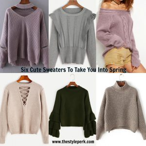 Six Cute Sweaters To Take You Into Spring – The Style Perk