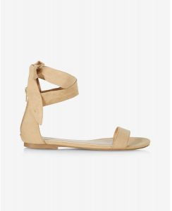 EXPRESS NUDE SIDE TIE SANDAL