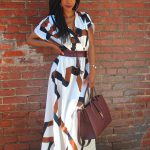 SheIn Geometric Print Split Maxi Dress, Printed Maxi Dress, Kelly Rowland Inspired Look