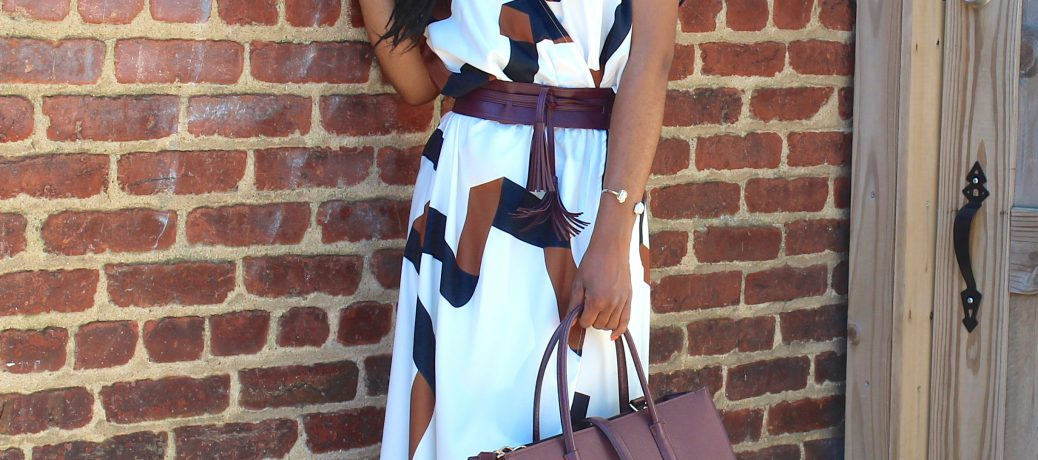 Spring Style: SheIn Printed Maxi Dress