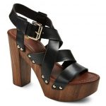 Women's Caitlin Quarter Strap Sandals Mossimo Supply Co.. black and wood platform sandals