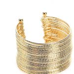 WOMEN'S TWIST CUFF BRACELET -GOLD METALLIC