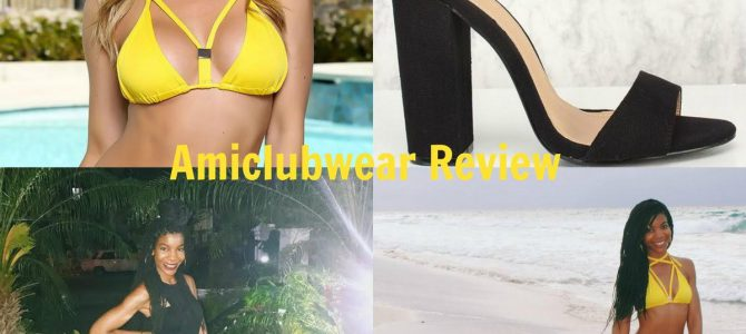 Cuba Travel Style: Amiclubwear Yellow Swimsuit + Amiclubwear Black Chunky Heels