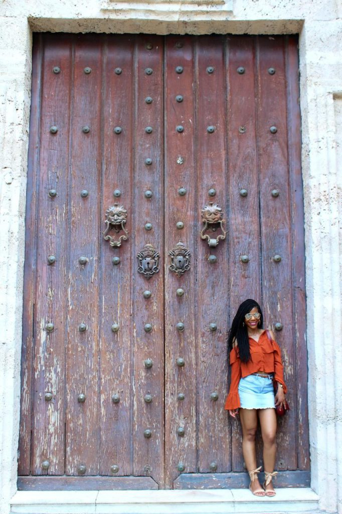 Orange Missguided Cold Shoulder Top, Forever21 Jean Skirt, Express Nude Tie Up Sandals, Fusterlandia, Havana, Old Havana, Cuba
