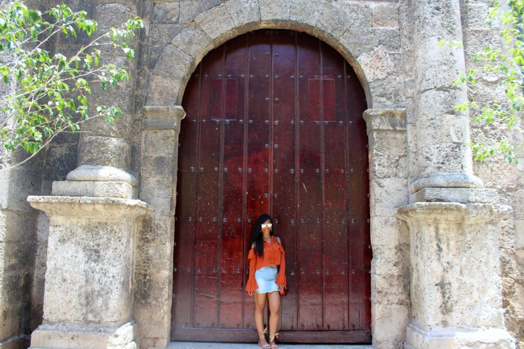 Orange Missguided Cold Shoulder Top, Forever21 Jean Skirt, Express Nude Tie Up Sandals, Fusterlandia, Havana, Old Havana, Cuba