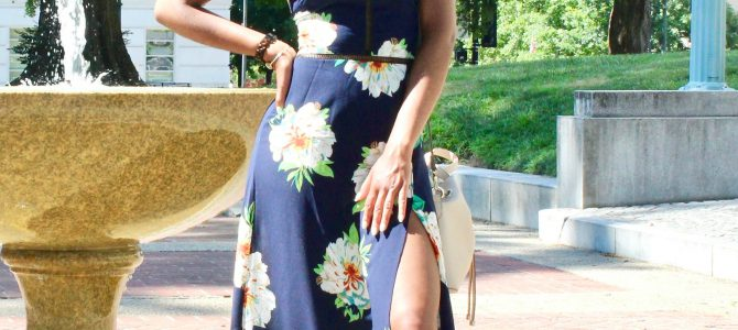 Summer Style: SheIn Laser Cut Floral Maxi Dress