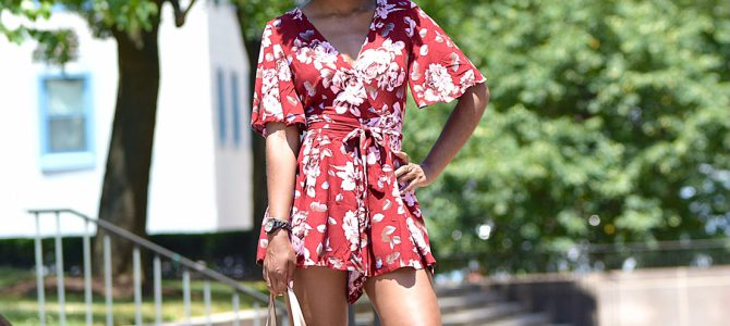 Summer Style: Romwe Floral Print Romper