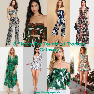 8 Pieces For Your Next Tropical Getaway, SheIn, Maxi Dress, Two Piece Set, OTS Top, Jumpsuit
