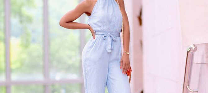 Summer Style: SheIn Chambray Cropped Jumpsuit
