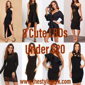 8 Cute LBDs Under $20, Romwe, Little Black Dress