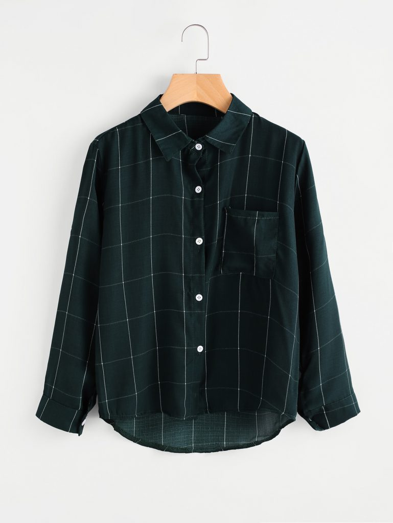 RomweGreenPlaidShirt