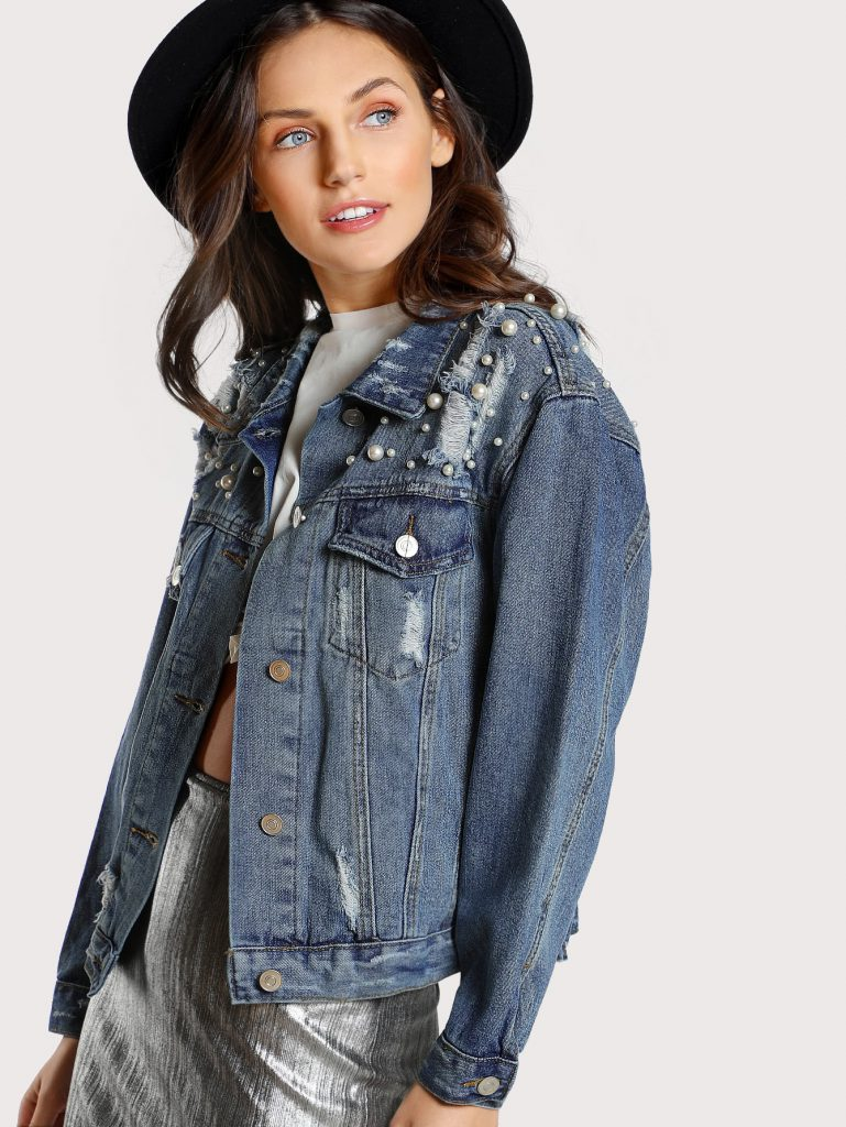 mbellished Denim Jacket DENIM
