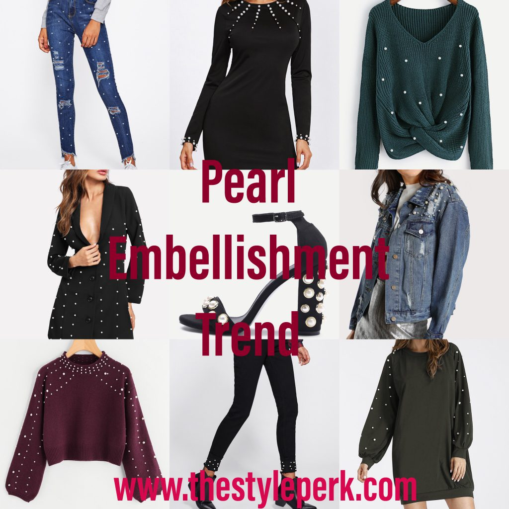 SheIn Pearl Embellishment Trend