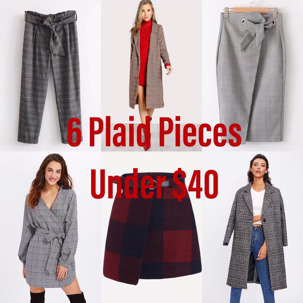 6 Plaid Pieces Under $40, Plaid Trend, Tartan Trend, Prints