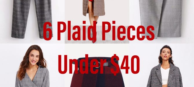 Fall/Winter Style: 6 Plaid Pieces Under $40