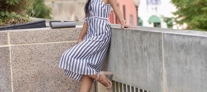 Summer Style: Button Front Vertical Stripe Cami Dress