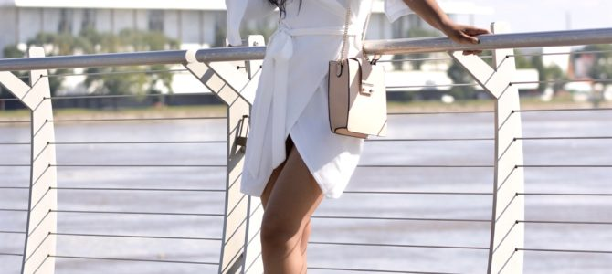 Fall Style: SheIn White Wrap Dress + How I Met My Photographer