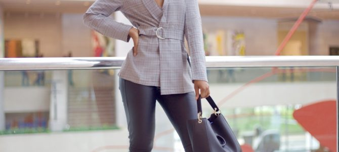 Fall/Winter Style: Collaboration With Beyond Photos + SheIn Plaid Belted Blazer