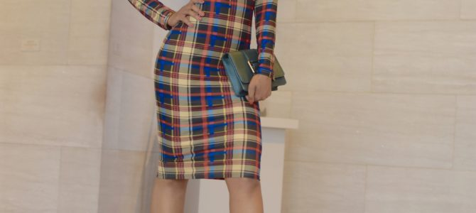 Fall/Winter Style: SheIn Plaid Midi Dress