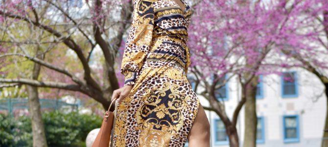 Spring Style: Scarf Print Wrap Dress