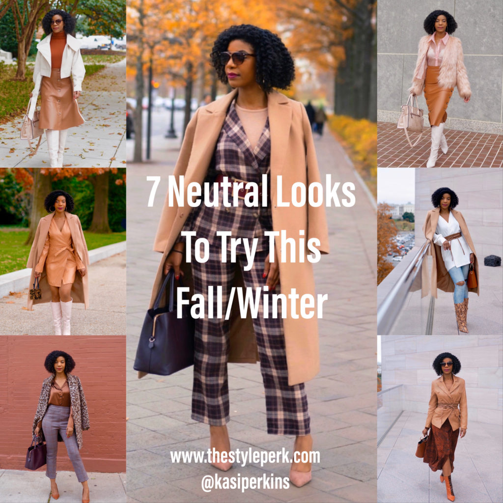 Seven Neutral Looks To Try This Fall/Winter, Neutral Looks, Neutral Outfits, Fall Outfits, Winter Outfits, Natural Hair